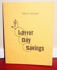 LATTER DAY SAVINGS GOAL-D ACCOUNT FOR READING SCRIPTURES MORMON PAMPHLET RARE PB
