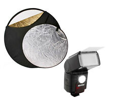 "Dedicated Digital TTL Flash LED Video Light for Canon DSLR Cameras 32"" Reflector"