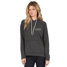 2016 NWT WOMENS VOLCOM LISTER PULLOVER FLEECE HOODIE $55 S black