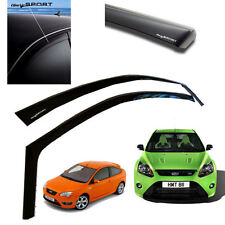 Genuine Ford Focus MK2 RS ST225 3 Sport Door Climair Wind Deflectors Dark Sport