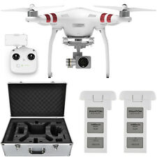 DJI Phantom 3 Standard Drone 2.7K Camera 3-Axis Gimbal 2x Battery Case Bundle
