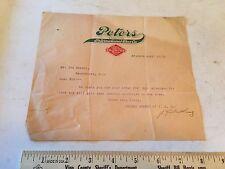1913 PETERS SHOES Diamond Brand Letter ST LOUIS Missouri - Dealer Calender Order