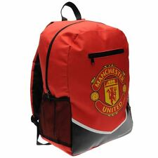 MENS BOYS OFFICIAL MAN UTD FOOTBALL TEAM BACKPACK RUCKSACK SCHOOL COLLEGE GYM