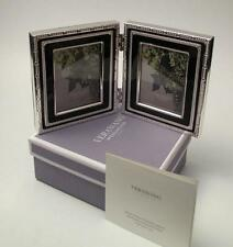 BOXED VERA WANG FOR WEDGWOOD WITH LOVE NOIR FOLDING DOUBLE PICTURE PHOTO FRAME