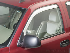 Chrome Trim Window Visors Fits 2002-2006 GMC Sierra (Front Only)