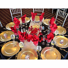 Set Of 48 Gold Lacquer Decorative Charger Dinner Table Under Plate Wedding Mat