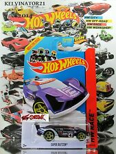 Hot Wheels 2014 #163 Super Blitzen® PURPLE,1ST COLOR,YELLOW PR5,BLACK SPOILER,US