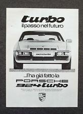 G611-Advertising Pubblicità-1980 - PORSCHE 924 TURBO IL PASSO NEL FUTURO