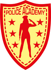 "Police Academy Girl Fun Sign Car Bumper Sticker Decal 3"" x 5"""