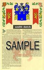 SMITH Armorial Name History - Coat of Arms - Family Crest GIFT! 11x17