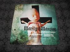 "MARILYN MANSON Holywood Disposable Teens Double sided UK Promo Poster 11"" x 11"""