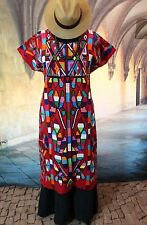 Traditional Tree of Life Huipil, Valle Nacional Hand Woven Oaxaca Mexican Fiesta