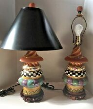 "ONE lighthouse lamp MACKENZIE CHILDS W SHADE RET $795 MINT LARGE 27"" TALL"
