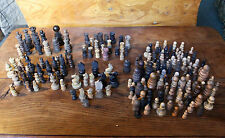 Joblot collection replacement chess pieces antique staunton regency x 193