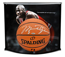 MICHAEL JORDAN Signed Authentic Spalding Basketball W/ Failure Quote Case UDA