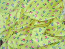 3 Yards * Vintage Cyrus Clark Sunny Yellow Chintz * Home Decor Fabric Yardage