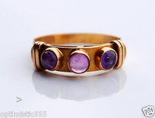 Antique Retro Ring solid 18K Gold Amethyst  US 7.25 / 2.2 gr