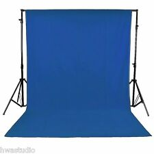10 x 10FT / 3 x 3M Photo Studio 100% Pure Muslin Collapsible Backdrop Blue