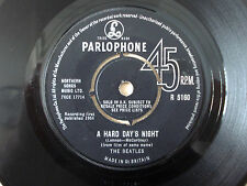 "The Beatles A Hard Day's Night ♫LISTEN♫ 1N 1N KT UK 7"" Parlophone R 5160 1964 VG"