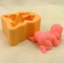 Soap Mould 3D Baby Boy Flexible Silicone Mold For Handmade Clay Candy Candle