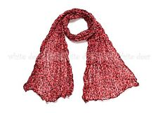 Small Leopard Cheetah Animal Print Wrinkle Scarf Wrap See Through Light Weight