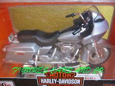 MOTO1/18 HARLEY DAVIDSON FLTR ROAD GLIDE 2002 GRISE