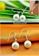 Amazing 2015 Quality Freshwater Pearl White Cream 925 Sterling Silver