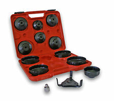 "13 Piece Oil Filter Cap Wrench Set with 3-Jaw Remover and 1/2"" to 3/8"" Reducer"