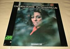 Carmen McRae For Once in My Life Original Sealed LP 1967 Atlantic 8143 Mono