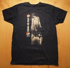 Michael Jackson KING OF POP 25th anniversary 2012 BAD TOUR Pepsi T-Shirt, size L