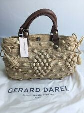 Authentic Gerard Darel 24 Hour Woodstock Raffia Bag! New