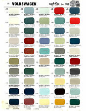 1958 1959 1960 1961 1962 1963 TO 1965 VOLKSWAGEN KARMANN GHIA PAINT CHIPS 65MS 2
