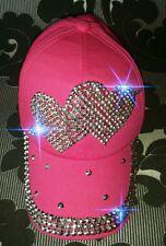 ♡NEW♡JUICY♡CUTE♡BLING ♡RHINESTONE♡ CRYSTAL♡SEXY ♡PINK BASEBALL CAP♡ HAT♡ADULT♡