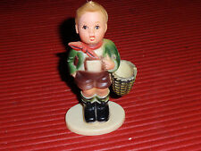 VINTAGE PLASTIC BOY FIGURE MADE TO LOOK LIKE A HUMMEL HONG KONG 4 1/2 INCHES