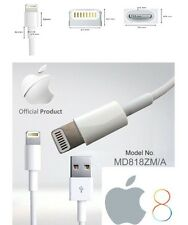 Original 1M largo Genuino iPhone 6 5 5s 5c 6 Plus iPod USB Cable de carga plomo UK