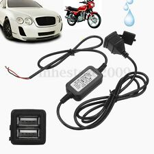 12V Waterproof Dual 5V 3A USB Motorcycle Phone Pad GPS Power Supply Port Charger