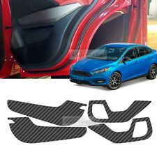 Carbon Black Door Decal Sticker scratch Cover Kick Protector For FORD 2016 Focus