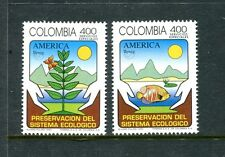Colombia 1113-1114, MNH, America issue 1995. x23471