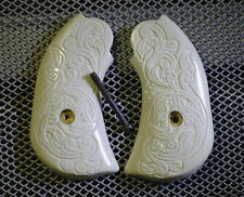 "Ruger The ""Shop Keeper"" Bearcat Birds Head IP/Hand Carved Scroll Works Grips!"