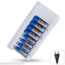 Nuevo 8 Slot Cargador de pilas AA / AAA NiCd NiMh Rechargeable Batteries EU Plug