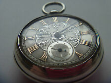 beautifill pair case silver fusee pocket watch with silver and gold dial