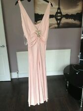 BNWT Gorgeous Karen Millen day/evening dress, dusky pink/gold, UK 10