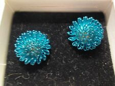 AVON VINTAGE *STAR SPARKLE EARRINGS W/SURGICAL STEEL POSTS IN BLUE* *NIB* 1993*