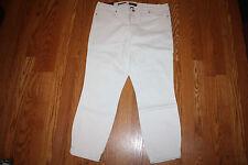 NWT Womens NINE WEST JEANS Gramercy White Skinny Ankle Jeans Sz 6