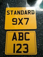 small motorbike number plate 8x6 number plate motorbike motor cycle bike show