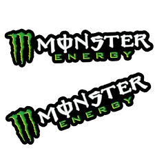 2 Vinyle Autocollants Stickers Auto Moto MONSTER Vert Ducati Rossi Scooter Velo