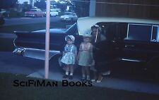 KODACHROME 35mm Slide Cute Little Girls Hats Woman Old Classic Cars Wings 1960s?