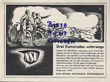 NECKARSULM, Werbung 1939, NSU-Werke AG NSU-Motor-Fahrrad-Quick-Motorräder