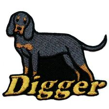 Iron-on Black and Tan Coonhound Patch With Name Personalized Free