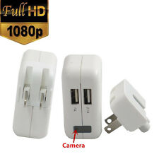 1080P HD Spy Hidden Camera Real AC power Adapter Motion Detection Plug Recorder